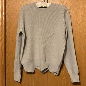 Women's Gray Scallop hem sweater
